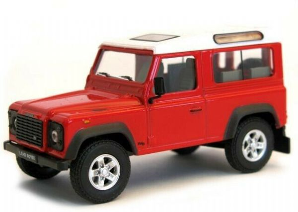 Cararama 4-55280 1/43 O Land Rover Defender 90 2  Door Red with White Roof